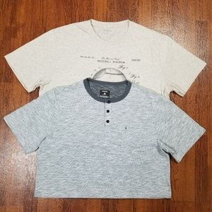 HURLEY DRIFIT & BANANA REPUBLIC MENS MEDIUM SHIRTS